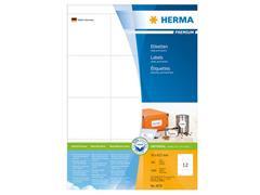 Herma Premium permanent papieretiket, 70 x 67,7 mm, 100 vellen, 12 etiketten per A4-vel, wit (pak 1200 stuks)