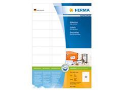 Herma Premium permanent papieretiket, 70 x 29,7 mm, 100 vellen, 30 etiketten per A4-vel, wit (pak 3000 stuks)