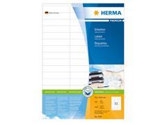 Herma Premium permanent papieretiket, 70 x 16,9 mm, 100 vellen, 51 etiketten per A4-vel, wit (pak 5100 stuks)