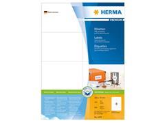 Herma Premium permanent papieretiket, 74 x 105 mm, 100 vellen, 8 etiketten per A4-vel, wit (pak 800 stuks)