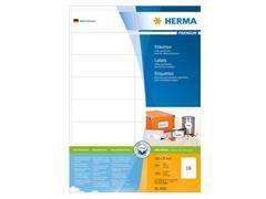 Herma Premium permanent papieretiket, 105 × 37 mm, rechte hoek, wit<BR> (pak 3200 stuks)