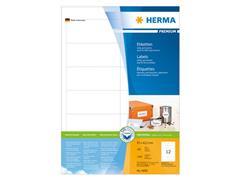 Herma Premium permanent papieretiket, 97 x 42,3 mm, 100 vellen, 12 etiketten per A4-vel, wit (pak 1200 stuks)