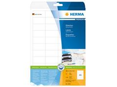 Herma Premium permanent papieretiket, 48,3 × 25,4 mm, rechte hoek, wit (pak 1100 stuks)