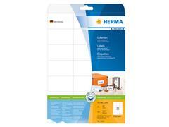 Herma Premium permanent papieretiket, 70 × 42,3 mm, rechte hoek, wit<BR> (pak 525 stuks)