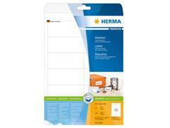 Herma Premium permanent papieretiket, 97 × 42,3 mm, rechte hoek, wit (pak 300 stuks)