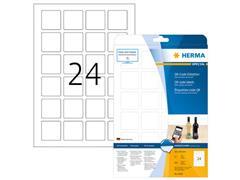 Herma Permanent QR-code-etiket, 40 x 40 mm, 25 vellen, 24 etiketten per A4-vel, ondoorzichtig wit (pak 600 stuks)
