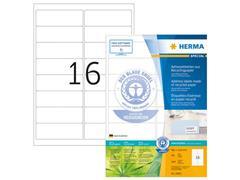 Herma Gerecyclede etiketten met rechte hoeken 99,1x33,8 mm, 10825 (pak 1600 stuks)