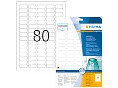 Herma Verwijderbaar prijsetiket, 35,6 x 16,9 mm, 25 vellen, 80 etiketten per A4-vel, wit (pak 2000 stuks)