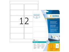 Herma Herpositioneerbare etiketten met ronde hoeken (pak 300 stuks)