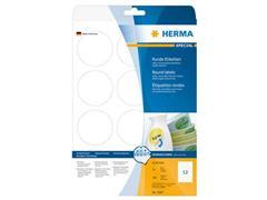 Herma Verwijderbaar papieretiket, rond, 6 mm, wit (pak 300 stuks)