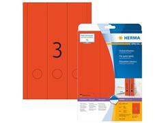 Herma Rugetiket 61 x 297 mm rood Zelfklevend (pak 60 stuks)