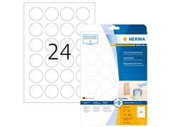 Herma Sluit etiketten diameter 40 mm, transparant mat (pak 600 stuks)