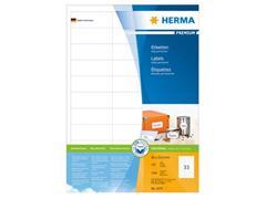 Herma Premium permanent papieretiket, 66 x 25,4 mm, 100 vellen, 33 etiketten per A4-vel, wit (pak 3300 stuks)