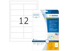 Herma Transparante folie etiketten 97x42,3 mm, 4682 (pak 300 stuks)