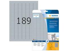 Herma Typeplaatje-etiketten 25,4x10 mm, zilver matt (pak 4725 stuks)
