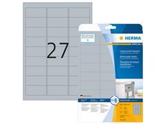 Herma Typeplaatje-etiketten 63,5x29,7 mm, zilver matt (pak 675 stuks)