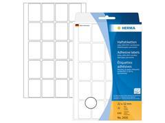 Herma Universele etiketten met ronde hoeken 22x32 mm, 2430 (pak 640 stuks)