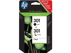 HP 301 Inktcartridge, Zwart en Kleur (pak 2 stuks)
