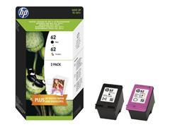 HP 62 Inktcartridge, Zwart en Kleur (pak 2 stuks)