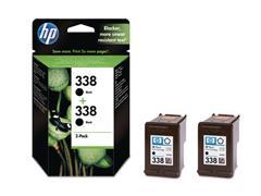 HP 338 Inktcartridge, Zwart (pak 2 stuks)