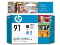 HP Printkop 91 Single Pack C9460A zwart, cyaan