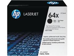 HP 64X Toner, hoog rendement, single pack, zwart