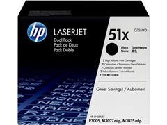 HP 51X Toner, hoog rendement, dual pack, zwart (pak 2 stuks)