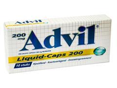 Advil Ibuprofen Pijnstiller, 200 mg (pak 10 stuks)