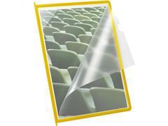 Jalema Infotas A4 voor Bureaustandaard Superior, Polypropyleen, Geel (doos 10 stuks)