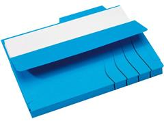 Jalema Souffletmap zuurvrij met tab Secolor 1-300 vel, blauw (pak 10 stuks)
