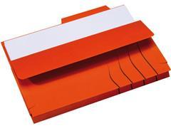 Jalema Souffletmap zuurvrij met tab Secolor 1-300 vel, rood (pak 10 stuks)