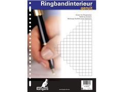 Kangaro A4 Interieurpapier, 60 g/m², 23-gaats, Geruit, Wit (doos 10 x 100 vel)