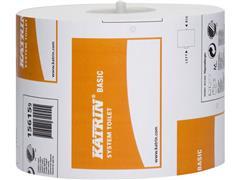 KATRIN BASIC systeem toiletpapier 918 vellen, 115 meter per rol (doos 36 x 918 vel)