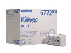 Kleenex® Gevouwen Handdoeken Interfold, wit, 2 laags, 21,5 x 41,5 cm, 94 doeken per pak (doos 30 x 94 vel)