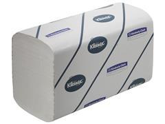 Kleenex® Extra kleine gevouwen papieren handdoeken, interfold, 2-laags, 215 mm, 186 vel, wit (doos 15 wikkels)