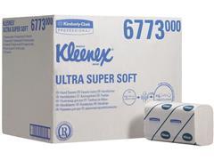Kleenex® Ultra supersoft gevouwen handdoek extra Interfold, wit, 3 laags, 21.5 x 41.5 cm (doos 30 x 72 vel)