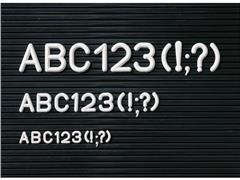 Legamaster Letterboard Accessoires, Letters 20 mm, Wit (pak 280 stuks)