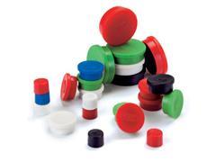 Legamaster Magneet rond 35 mm, magneetsterkte 2500 gram, rood (pak 10 stuks)