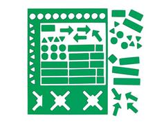 Legamaster Symbool magnetisch 20mm groen/set30 (pak 30 stuks)