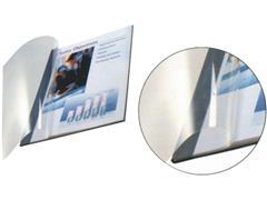 Leitz Inbindomslag A4, Linnen, 3,5 mm, 10 - 35 vel, Transparante Omslag, Wit (pak 10 stuks)