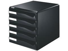 Leitz Ladenblok 5 laden, zwart/zwart
