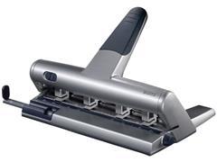 Leitz Perforator 5114 verstelbaar 30 vel, 4-gaats, zilver