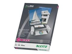 Leitz Geperforeerde Lamineerhoes A4, 229 x 303 mm, 2 x 125 micron, Glanzend (pak 100 stuks)