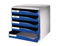 Leitz Ladenblok 5 laden, blauw/grijs