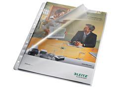 Leitz Geperforeerde Zichtmap, L-model, Polypropyleen, 130 micron, Transparant (pak 100 stuks)