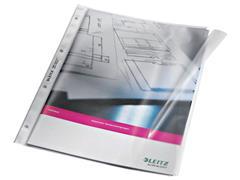 Leitz A4 Showtas met Klep, Polypropyleen, 120 micron, 11-gaats, Transparant (pak 50 stuks)