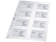 Leitz Showtas voor visitekaartjes A4, 11 rings, 8 vaks (pak 10 stuks)