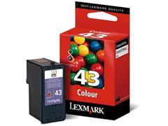 Lexmark Nr. 43 Inktcartridge, Cyaan, Geel, Magenta