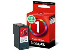 Lexmark Nr. 1 Inktcartridge, Cyaan, Geel, Magenta