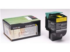 Lexmark C540 Toner, Single Pack, Geel